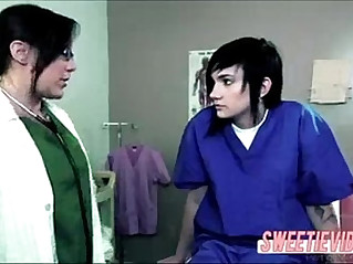 Lesbian Doctor and patient mature young blonde girl on girl