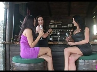 Lesbian Cougar seduces young Lesbians Viv Thomas HD