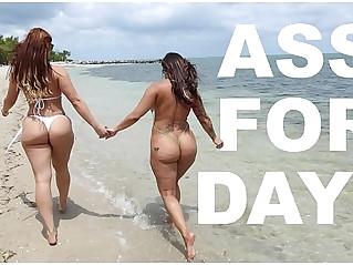 Latina Lesbians Spicy J Miss Raquels Asstastic Day At The Beach