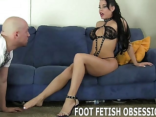 Get on your knees and worship my feet like a good slave