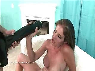 lesbian with huge strapon