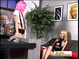 Lesbian Mistress Abuses A Hot Teen Cheerleader