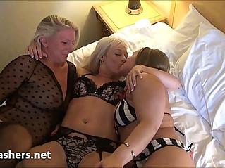 Mature lesbian voyeur girls fingering pussy pleasuring on spycam with milf b